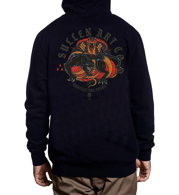 Угрюмой Для Мужчин's провести еще пуловер с длинными рукавами с капюшоном