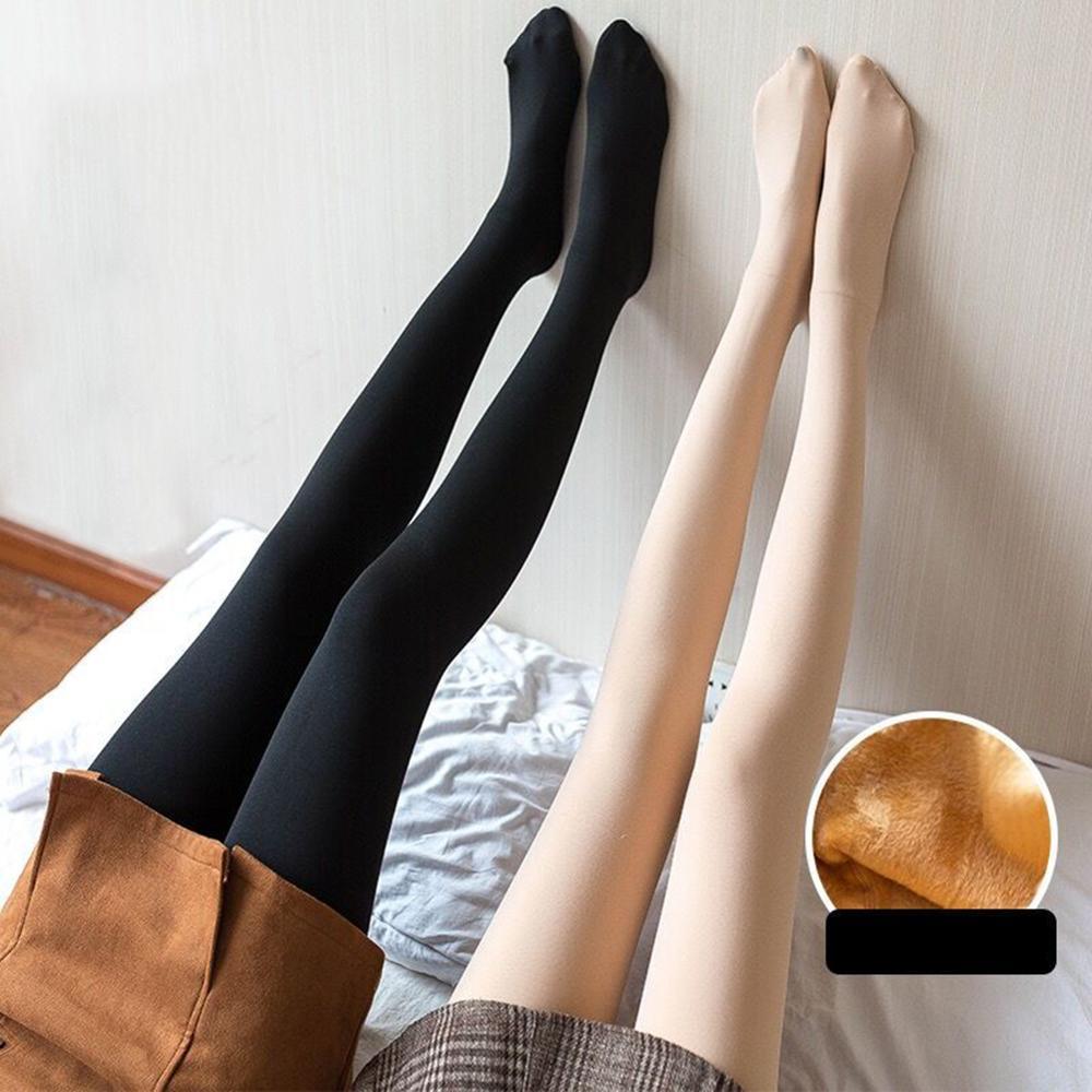 DANALA 2019 Winter Woman' Fashion Waisted Sexy Leggings Opaque Regular Shaping Winter Warm Pants Footed Women Pants