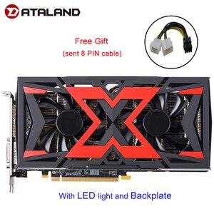 Image 1 - Dataland 그래픽 카드 Radeon RX580 8G rx 580 Radeon 직관적 인 AORUS 그래픽 엔진 256 비트 8GB AMD PC 그래픽 카드