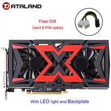 Dataland Videokaart Radeon RX580 8G Rx 580 Aangedreven Door Radeon Intuïtieve Aorus Grafische Engine 256 Bit 8 Gb amd Pc Grafische Kaart