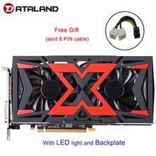 Dataland grafikkarte Radeon RX580 8G rx 580 Angetrieben durch Radeon Intuitive AORUS Grafiken Motor 256 Bit 8GB AMD PC grafikkarte