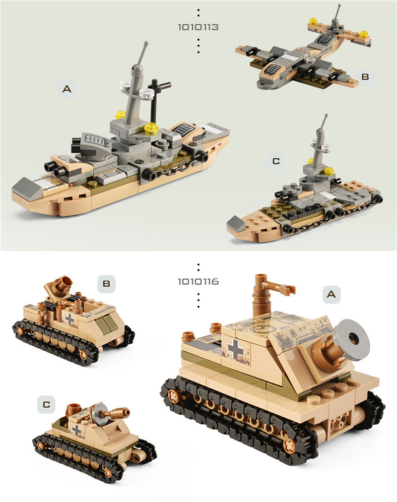 1061PCS Tank Building Blocks Toys Mini figures Vehicle Aircraft Boy Educational Block Military Compatible LegoINGlys Bricks (14)