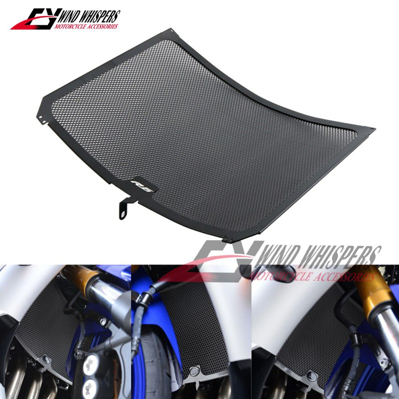 Matt Black Motorcycle Aluminum Radiator Grill Grille Guard Cover Protector For Yamaha YZF-R6 2017 2018 YZF R6 17 18
