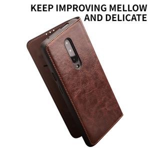 Image 3 - QIALINO Luxurious Genuine Leather Phone Case for OnePlus 7 6.41 inch Business Style Handmade Cover for OnePlus 7 Pro 6.67 inch