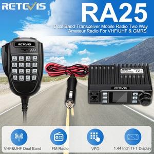 Image 1 - Retevis RA25 רכב נייד רדיו UV Dual Band/GMRS TFT תצוגת 20W מכשיר קשר לרכב 500/30CH רכב דו דרך רדיו חובבים משאית