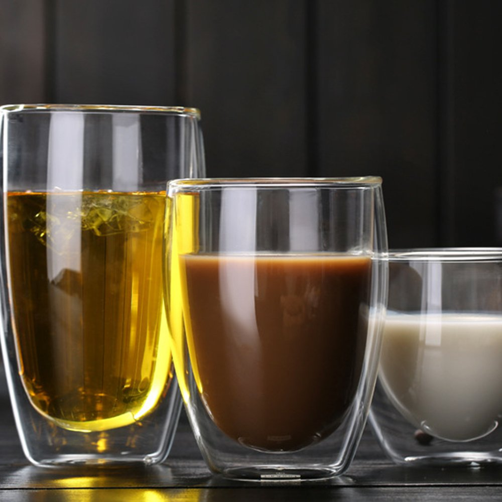 250ml 350ml 450ml Heat Resistant Double Wall Insulated Glass Espresso Mugs Latte Coffee Glasses Whisky Coffee Cup Tea Mug Other Glass Aliexpress