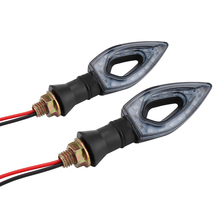 цена на 2pcs Universal Flashing Motorcycle LED Black Amber Turn Signal Lights LED Blinker Indicator Light Moto Bike Lamps 12V For Yamaha