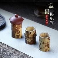 Chang tao yiyixing pot capa à mão detém kung fu acessórios de chá meifeizhu capa traseira artigos de mobiliário de chá