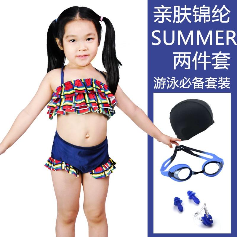 CHILDREN'S Swimsuit Set Fashion Cute Children Baby Infants Split Type Boxer GIRL'S Swimsuit Swimming