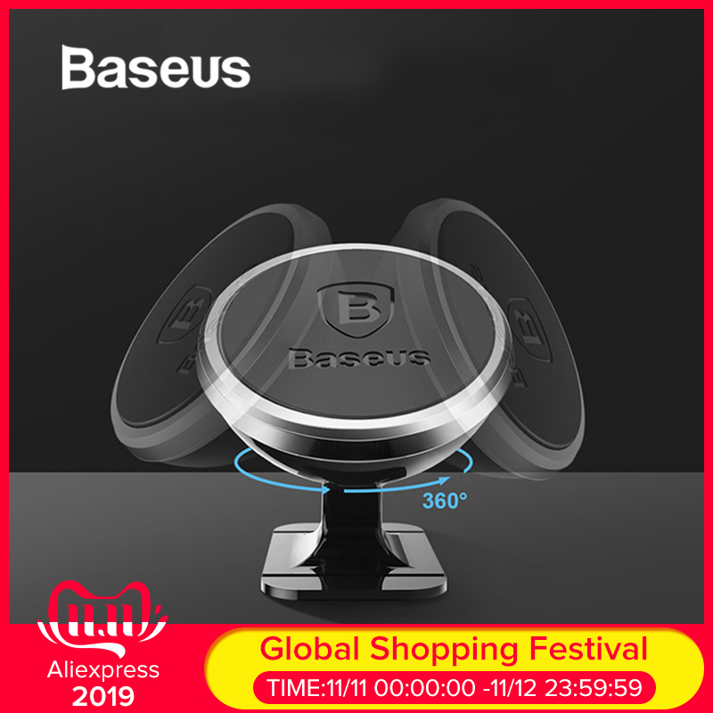 Baseus Magnetic Car Holder For IPhone Samsung Universal Phone Holder Stand In Car 360 Degree Rotation Car Phone Holder Mount