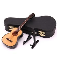 Guitar Flangerature Model Wooden Flanger Guitarra Display Musical Instrument with Case Stand