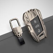 Car key case For Volkswagen VW Tiguan MK2 Magotan Passat B8 C For Skoda Superb A7 17 2018 2019 2020 key shell cover key chains