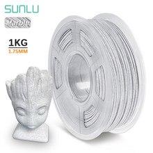 Materiais de impressão biodegradáveis plásticos da textura de mármore dos filamentos das impressoras 3d do pla 1kg 1.75mm do filamento da impressora 3d de sunlu