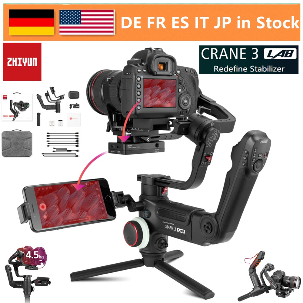 ZHIYUN Crane 3 LAB 3-Axis Wireless FHD Image Transmission Camera Stabilizer For Sony A7M3 A7R3,Canon 1DX II 6D ,Nikon D850 DSLR