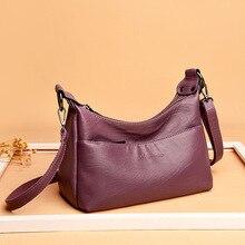 Leather Luxury Handbags Women Bags Designer Female Shoulder