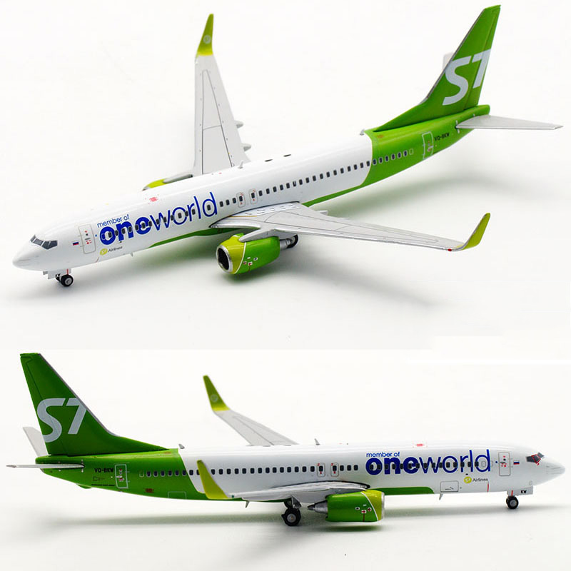 Russia 10CM Boeing B737-800 LH4086 S7 Siberian Airline 1/400 Scale Airplane Model Toy Aircraft Diecast Plastic Alloy Plane Gifts