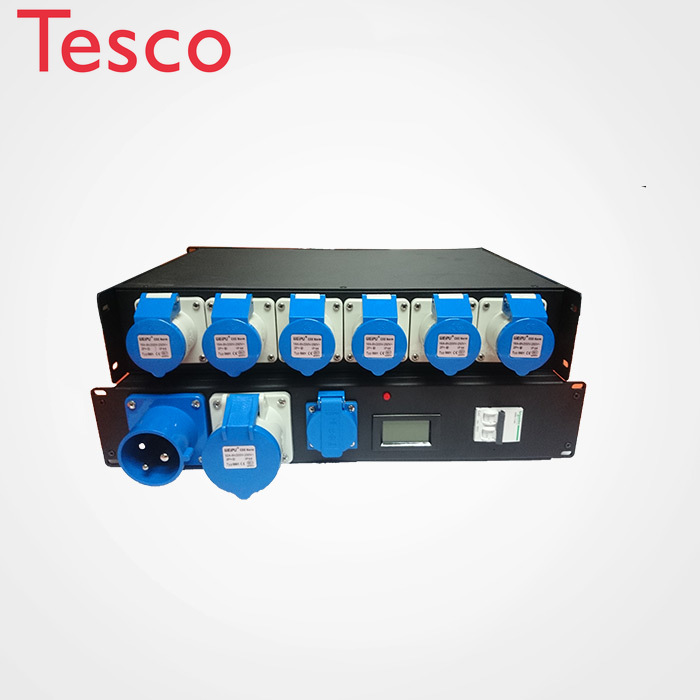 2U Rack Power Distribution Unit Electrical Iron Box For Sound And Light