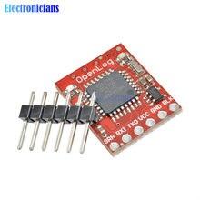 Openlog – enregistreur de données série, Source ouverte, Module SPI Pin, ATmega328, 16MHz, 64 go, pour Arduino, compatible Micro SD