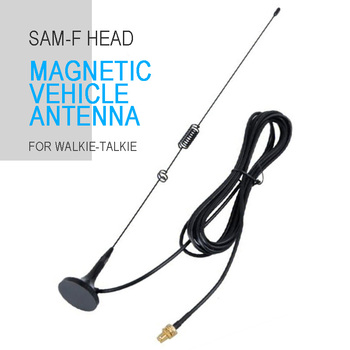 цена на Car Magnetic Dual Band Walkie Talkie Antenna Compitable for Baofeng UV5RA UV5RE UV5RD Walkie Talkie Antenna Parts Accessories