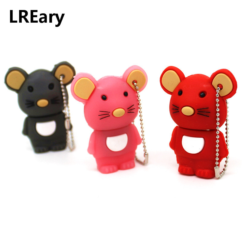 Cute Cartoon Mouse 128M USB Stick Pen Drive 4GB 8GB 16GB 32GB 64GB Pendrive USB Memory Disk USB Flash Drive Year Of The Rat Gift