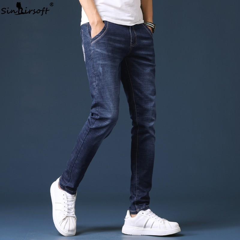 2019 Spring New Men's Jeans Blue Classic Fashion Designer Denim Skinny Jeans Men's Casual High Quality Slim Trousers