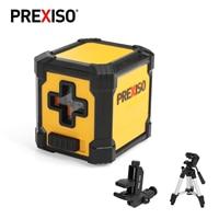 PREXISO-Nivel láser de línea cruzada, autonivelante automático, láser rojo, líneas horizontales y Cruz Vertical, rango de 10m