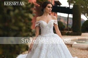Image 2 - יוקרה תחרה חתונה שמלת 2020 מתוקה Robe דה Mariee Custom להפוך Chaple רכבת חתונת שמלות Vestido דה Novia