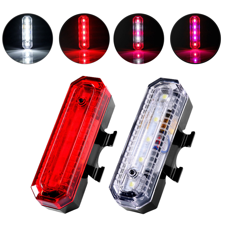 Bike Bicycle USB Rechargeable LED Mountain Rear Bike Tail Light MTB Safety Warning Rear Light Lamp Bike Accessories