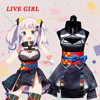 Anime Kaguya Luna Dress KaguyaLuna Black Cosplay Costumes Sets Dress For Women Girls Clothes Japanese Cosplay Costumes
