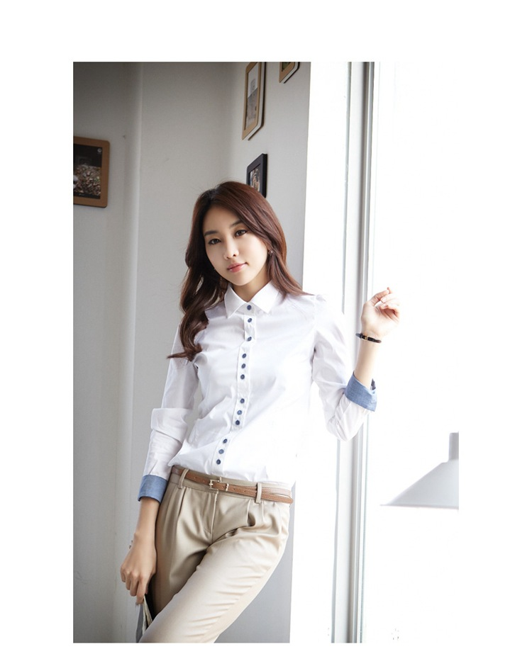 White Blouses and Tops Women Turn Down Collar Long Sleeved Office Work Formal Blouse Shirt Female Plus Size XXXL XXL 2020 Autumn