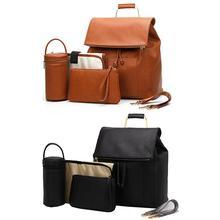 Высококачественная модная сумка из искусственной кожи для мам и мам, сумка для кормления, рюкзак для путешествий, дизайнерский рюкзак для детских колясок