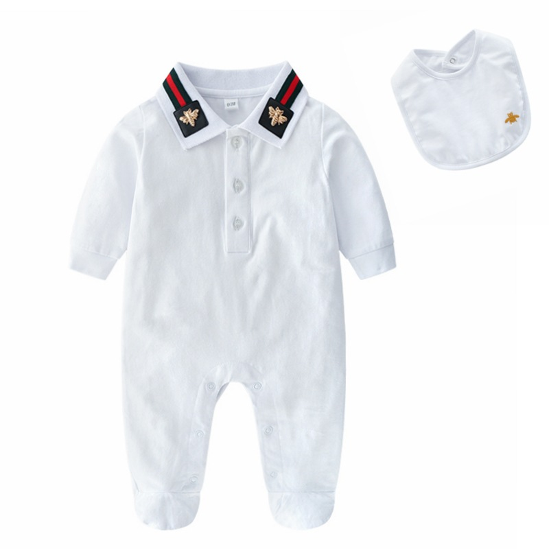 Baby Onesie Spring And Autumn Male Baby Autumn Clothing Pure Cotton Clothes for Babies Newborns Long-sleeve Jumpsuit Climbing Cl