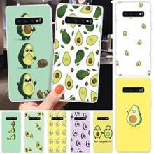 avocado cartoons Soft Silicone TPU Phone Cover For Samsung S6 S7 S7 edge S8 S8 Plus S9 S9 Plus S10 S10 plus S10 E(lite) medicine nurse doctor dentist soft edge phone cases for samsung s6 edge plus s7 edge s8 s9 s10 plus lite e note8 note9 cover