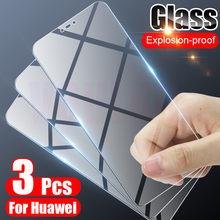 3 pçs vidro de proteção temperado para huawei p20 p30 p40 lite p smart 2019 protetor de tela para huawei companheiro 30 20 lite p20 pro filme