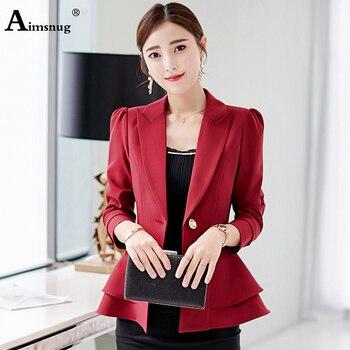 Aimsnug New Arrival Autumn Women Temperament Fashion Slim Suit Work Style Comfortable Trend Cute Wild Classical Lady Suits
