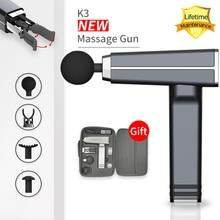 Lebenslange Garantie K3 Muscle Massage Gun Körper Massager Tragbare und licht Elektrische Massage Muscle Pain Relief Entspannende Massage