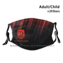 O atlético de madrid não-descartável dustproof a máscara protetora da boca pm2.5 filtra para o atlético adulto da criança madrid futebol madrid