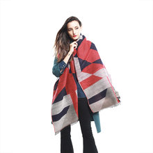 2019 New warm autumn and winter travel big Joker shawl cashmere geometric pattern Shawls and Scarves(China)