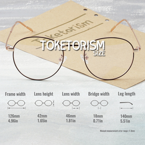 Image 4 - Toketoryzm okulary blokujące niebieskie światło komputerów metalowa rama okrągłe okulary dla kobiet i mężczyzn 580