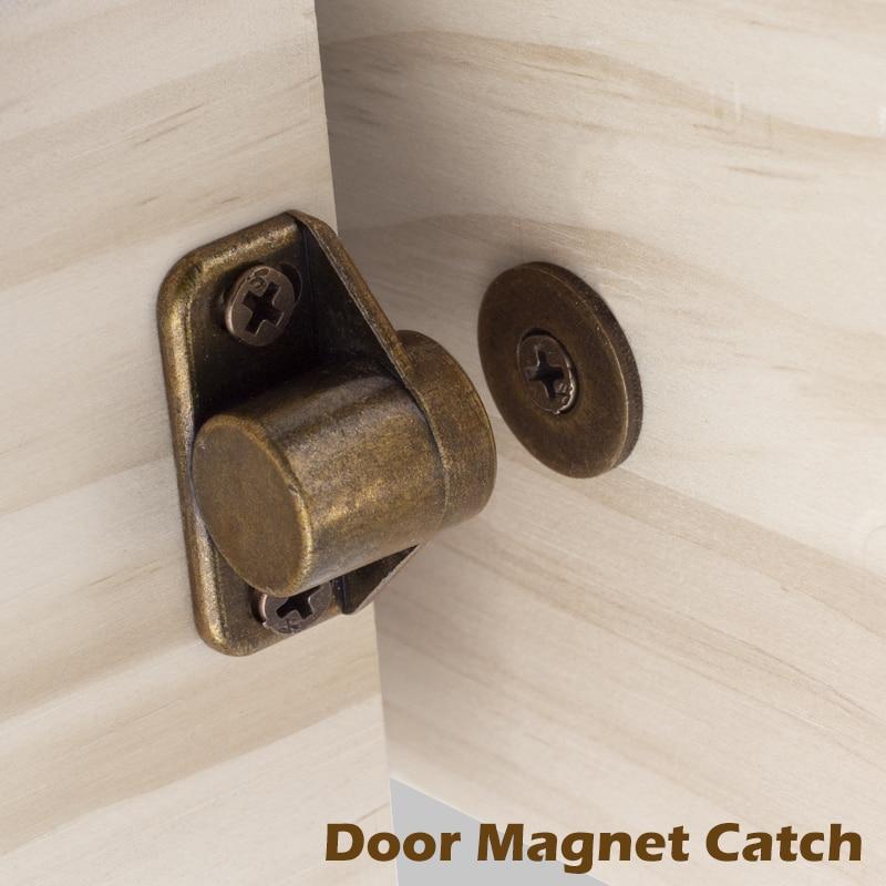 KeenKee Furniture Fittings Zinc Alloy Rustic Bronze Effect Strong Magnets Furniture Door Super Powerful Neodymium Magnet Latch