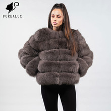 Short Paragraph Real Fox Fur Coat Women's Super Luxury Winter Full Pelt New Genuine Leather Jacket Handmade Clothing Coat FC-034 brand new japan genuine valve vs4130 034