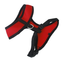 S code red breathable mesh pet dog car safety harness