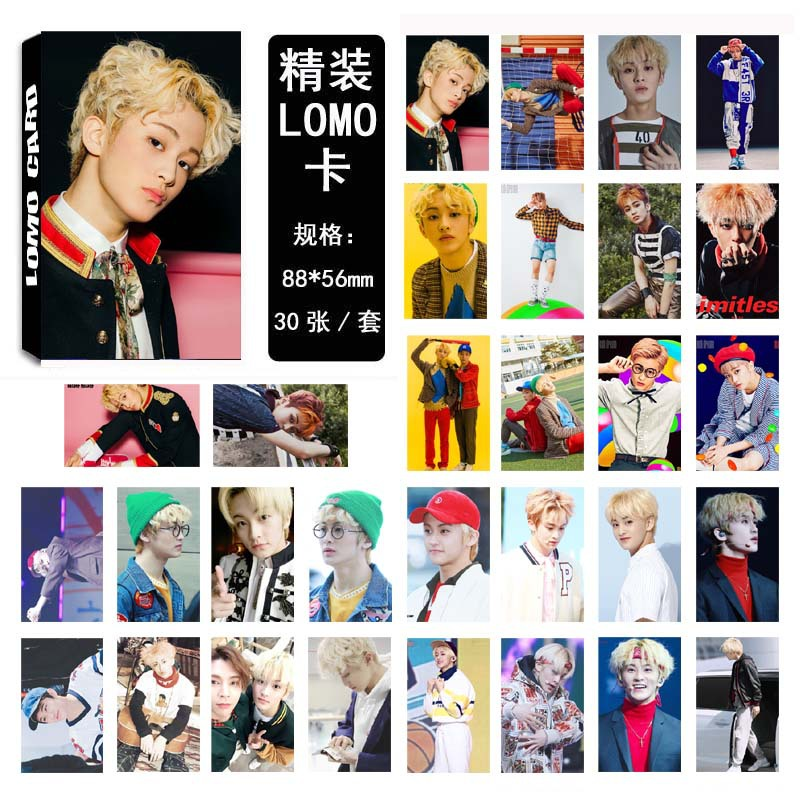 30Pcs/set NCT 127 K-POP Mark Single Photocard Fashion K-pop NCT DREAM HD Lomo Cards NCT127 Good Quality New Arrivals