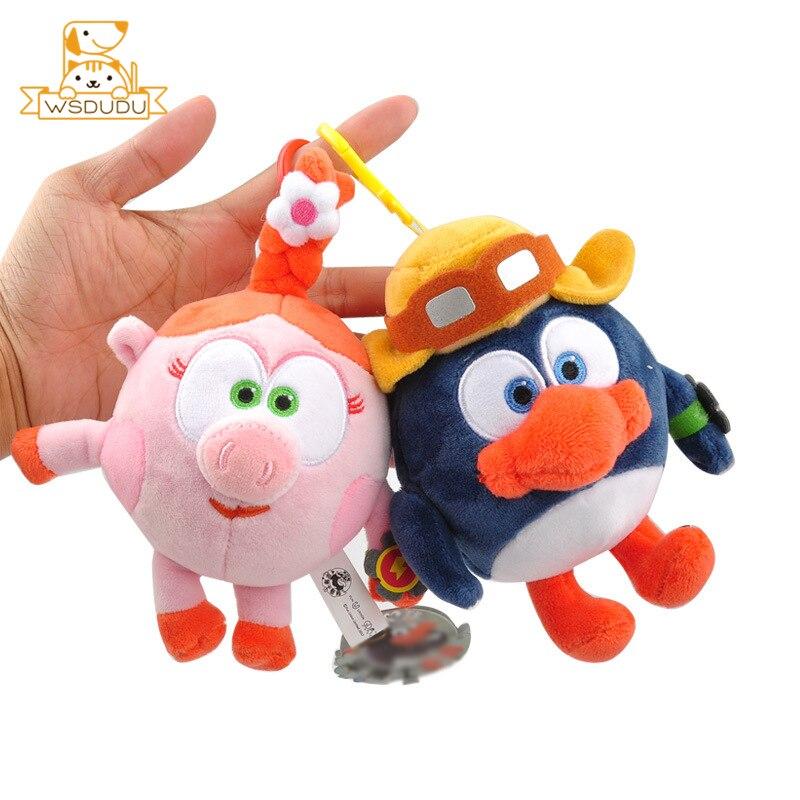 Cute Cartoon Krosh Rosa Dokko Losyash Otto Gogoriki Kikoriki Soft Plush Pendant Keychain Stuffed Toys Animal Rabbit Dolls Gifts