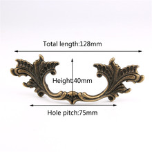 цена на Furniture Handles Drawer Pulls Cupboard Wardrobe Handle Kitchen Cabinet Knobs and Handles Leaves handle 126 * 40MM