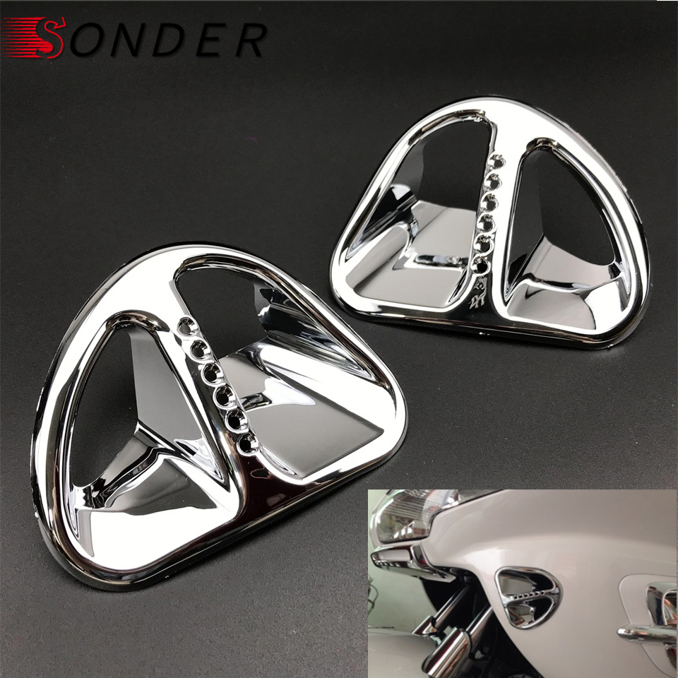 Chrome Fairing Front Fender Tip Trim For Honda Goldwing GL1800 2001-2011 10 2009