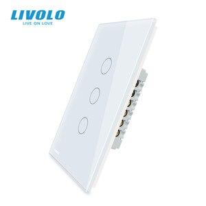 Image 3 - LIVOLO Hersteller Wand Schalter, interruptor 110v ,1way control Elfenbein Glas Panel, UNS Touch Licht Schalter, mit hintergrundbeleuchtung
