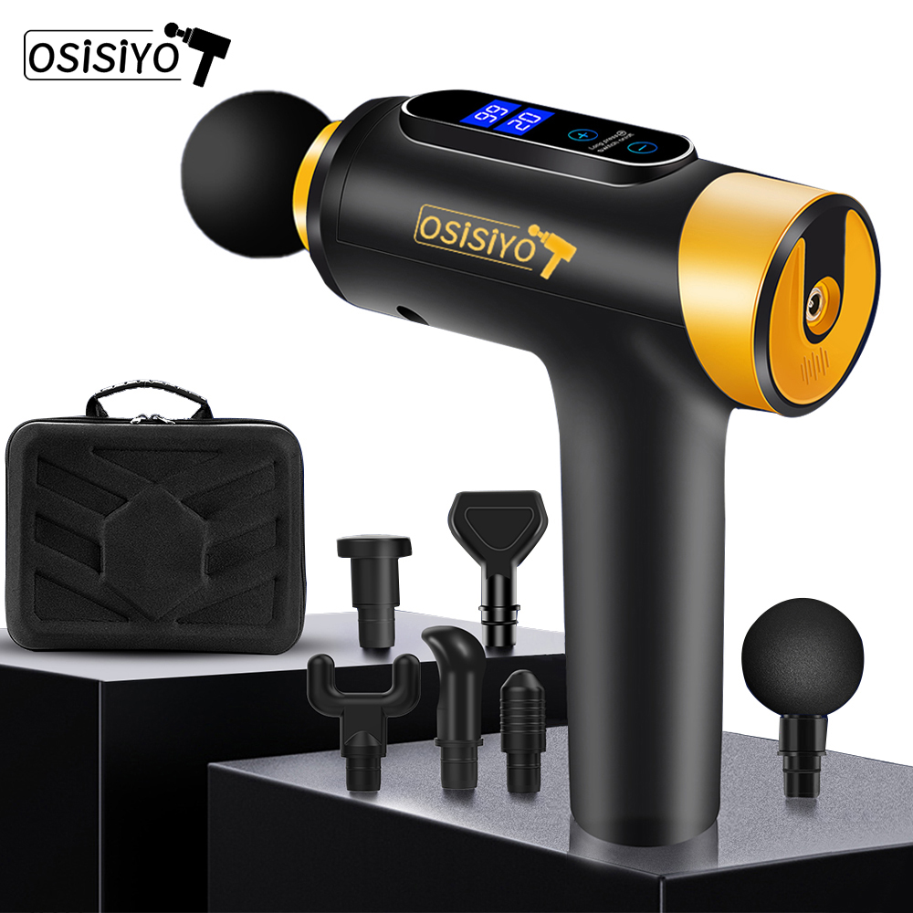 OSISIYO Massage Gun Fascia Gun Body Massager Slimming Shaping Electric Massager Pain Relief Muscle Relax
