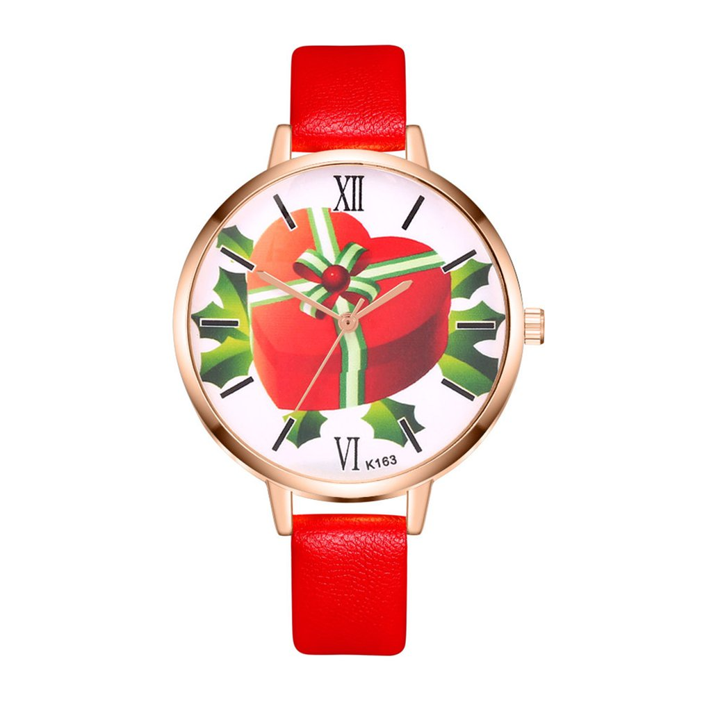 Fashion Luxury Women Quartz Watches Heart Gifts Pattern Round Dial Leather Band Wrist Watch For Dropshipping Montre Femme 2018