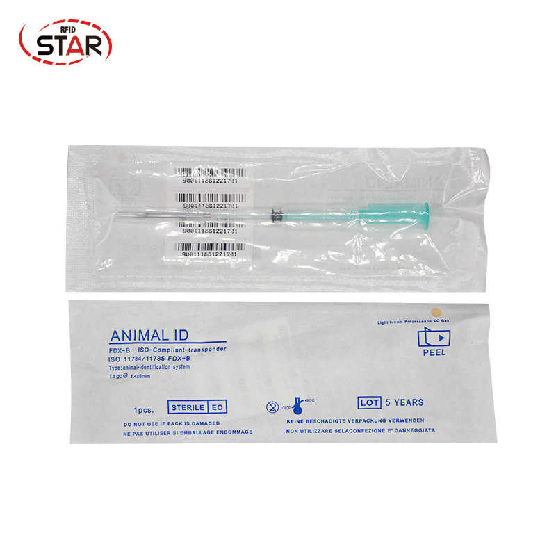 50pcs  Animal Syringe 1.4*8/1.25*7/2*12mm Pet Microchip Bioglass Fdx-b Rfid Microchips For Dog Cat Fish Identification